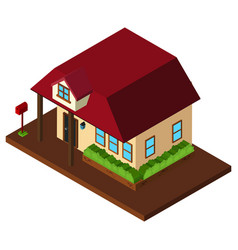 3d design for with red roof vector image