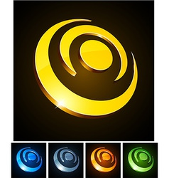 3d vibrant circles vector image vector image