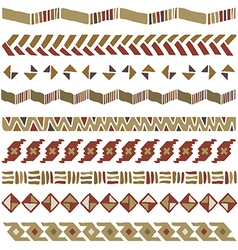 African geometric ornament seamless vector
