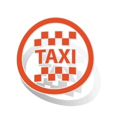 Taxi sign sticker orange vector