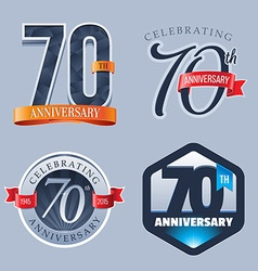70 Years Anniversary Logo vector image vector image