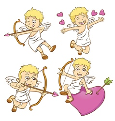 Cute little cupid isolated on a white background vector
