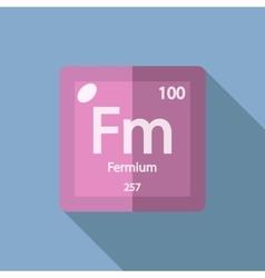 Chemical element fermium flat vector