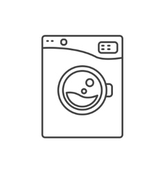 Washing machine line icon sign vector