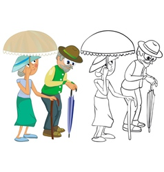 Senior citizens vector