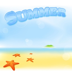 summer sea sign vector image