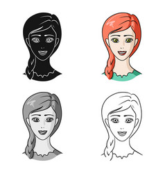 Avatar of a girl with red hairavatar and face vector