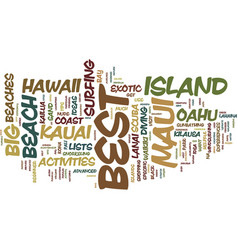 Best of hawaii itinerary ideas for the traveler vector