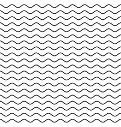 Black Wavy Line Seamless Pattern vector image