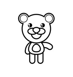 cartoon bear animal outline vector image vector image