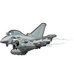Cartoon fighter plane vector