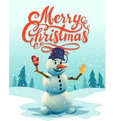 christmas greeting card merry christmas vector image vector image