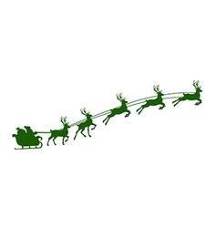 Christmas reindeer harness vector