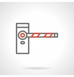 Classic road barrier black line icon vector image