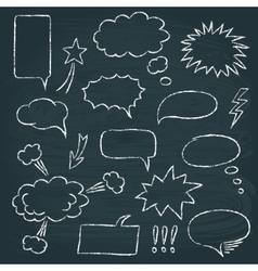 Comics style speech bubbles set vector image
