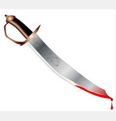 Cutlass with blood vector