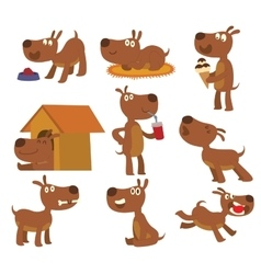 Dog set vector image