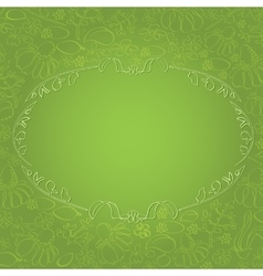 Frame on background with chamomile and leaves vector image vector image