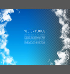 frame with clouds vector image