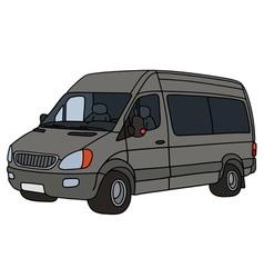 Gray delivery car vector