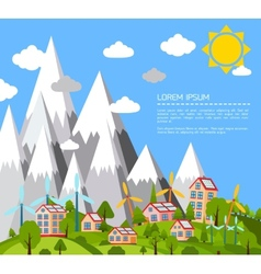 Green world poster vector image vector image