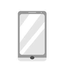 grey smartphone gadget device vector image