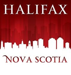 Halifax Nova Scotia Canada city skyline silhouette vector image vector image