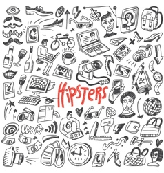 hipsters doodles vector image vector image