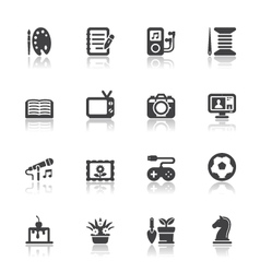 Hobbies icons vector