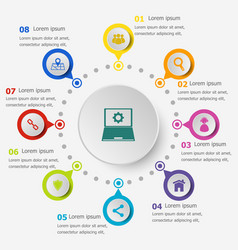 infographic template with seo icons vector image vector image