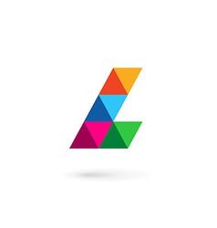 Letter L mosaic logo icon design template elements vector image vector image