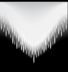 Meteor beam moves as an arrow abstract vector