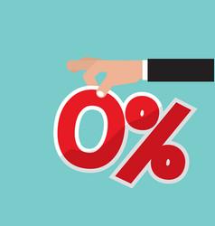 Zero percent interest vector