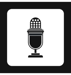 Retro microphone icon simple style vector