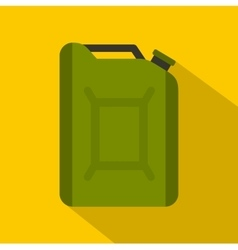 Flask for gasoline icon flat style vector