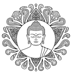 Buddha with lotus vector