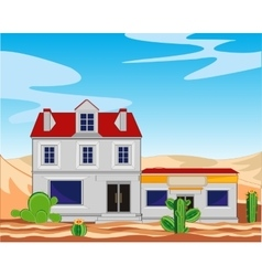 Borough in desert vector