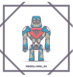 robot mode number hma 01 vector image