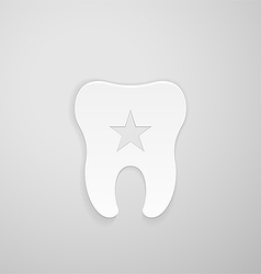 Emblem tooth with a star inside vector