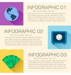 Business flat infographic template with text vector
