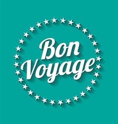 Bon voyage long shadow effect vector
