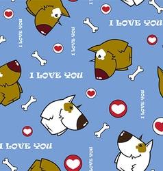 Dog pattern vector image