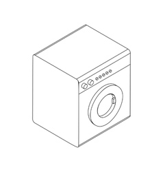 Washing machine icon isometric 3d style vector