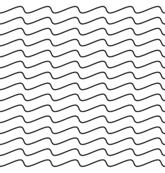 Black wavy line seamless pattern vector