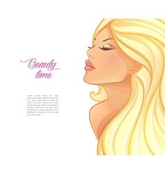 Beautiful blond woman image vector image