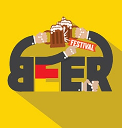 Beer Festival Typography Design vector image