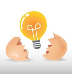 Bulb Egg vector image vector image