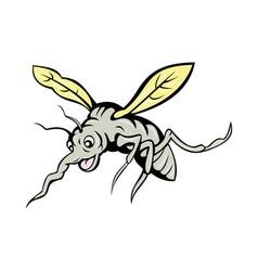 Cartoon mosquito flying vector