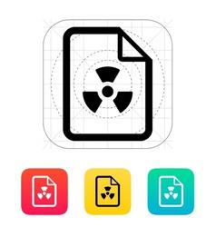 Dangerous file icon vector image vector image