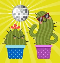 Disco cactus vector